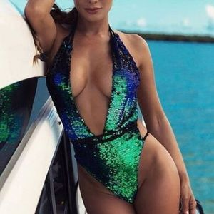 SWIMSUIT SALE - SEXY Sequins One Piece